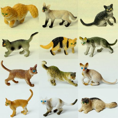 3D Miniature Cat Figurines (12pcs)