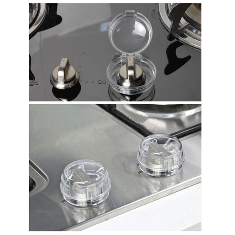 6 Pcs Baby Safety Oven Lock Lid Gas Stove Knob Covers Infant Child Protector Kitchen Supplies