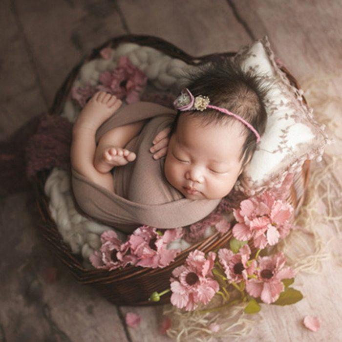 Woven Heart Newborn Photography Basket