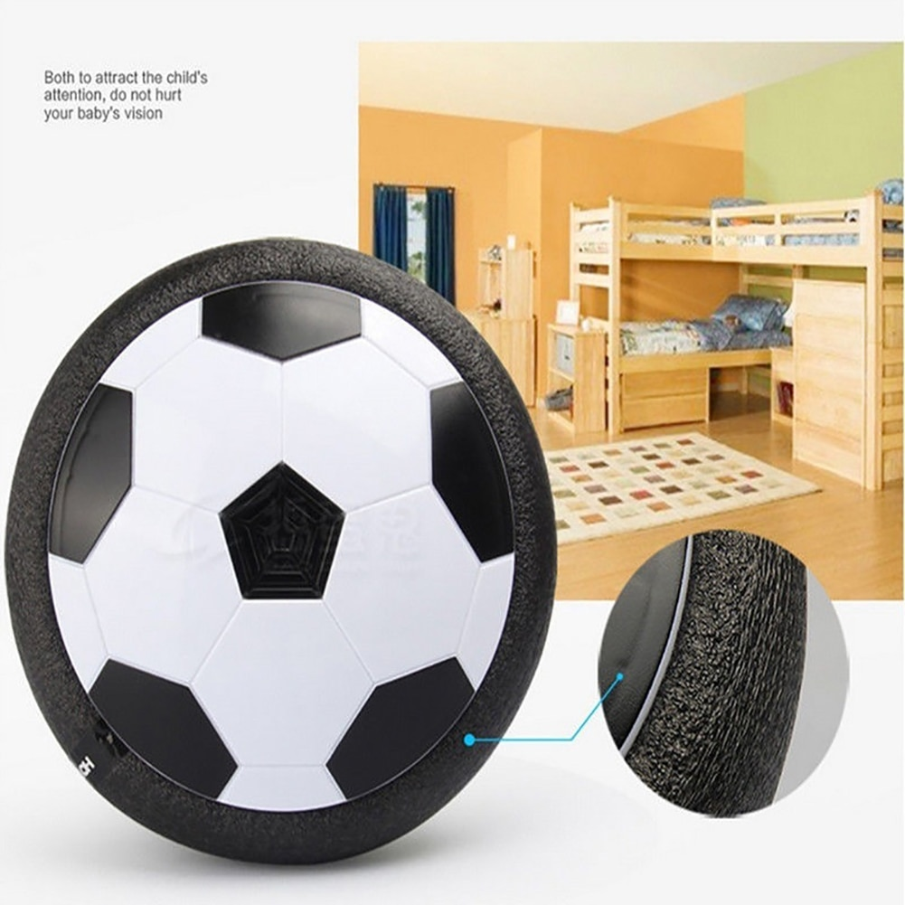 Kids Levitate Suspending Soccer Ball Air Cushion Floating Foam Football with LED Light Gliding Toys Soccer Toys Kids Gifts