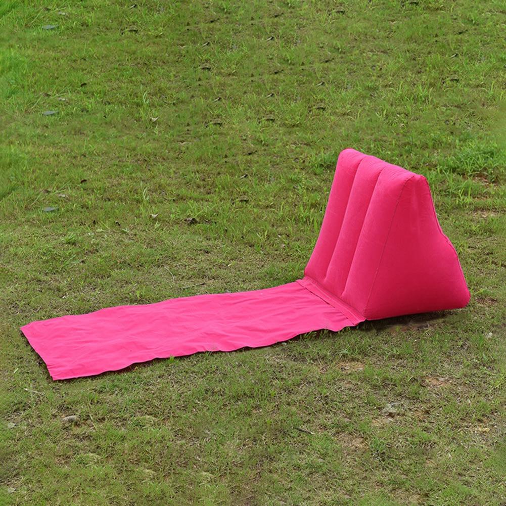 Foldable Soft Inflatable Beach Mat Festival Camping Leisure Lounger Back Pillow Cushion Chair Seat Air Bed Travel Mattress
