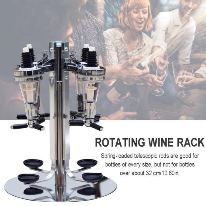 Revolving Liquor Caddy Rotatable Dispenser