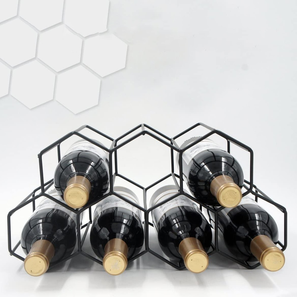 High Quality Golden Wine Rack Decoration Nordic Creative Wrought Iron Wine Rack For Living Rooms Offices Wine Bottle Holder