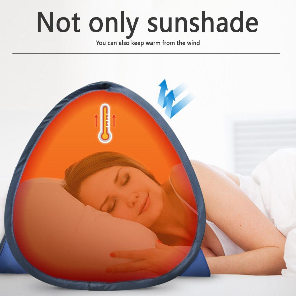 Outdoor Camping Beach Sun Protection Face Tent Foldable Windproof Lightweight Sun Shelter Umbrella Face Tent with Phone Holder