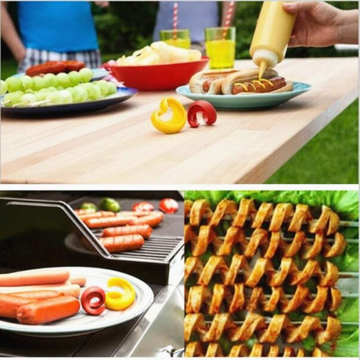 Spiral Hot Dog Cutters Set (2pcs)