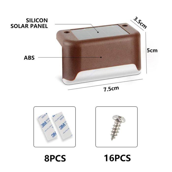 Outdoor LED Solar Deck Step Lights