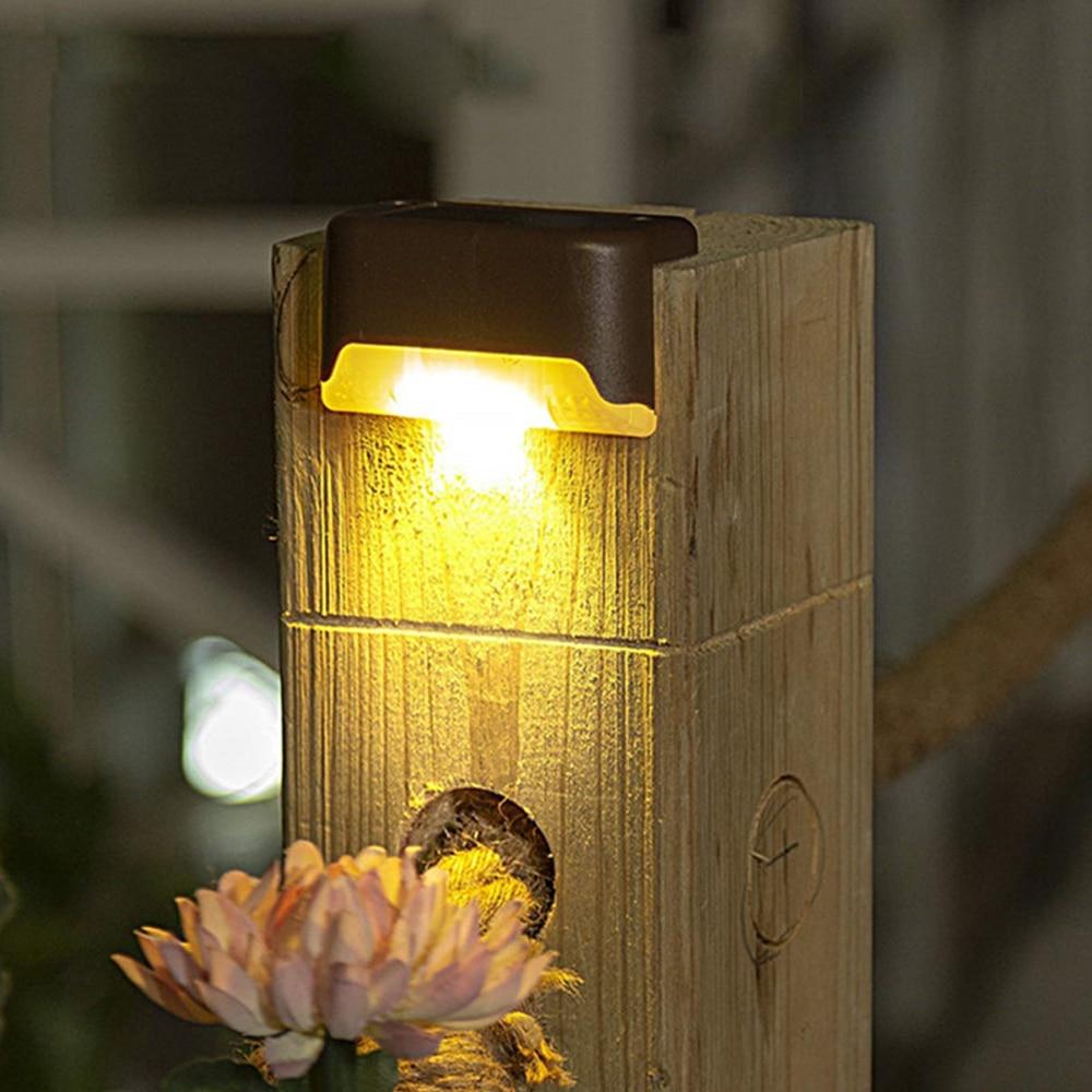 4-16pcs LED Solar Lamp Deck Lights Wall Stairs LED Outdoor Garden Lamp Solar Stair Light Waterproof Step Light Landscape Light