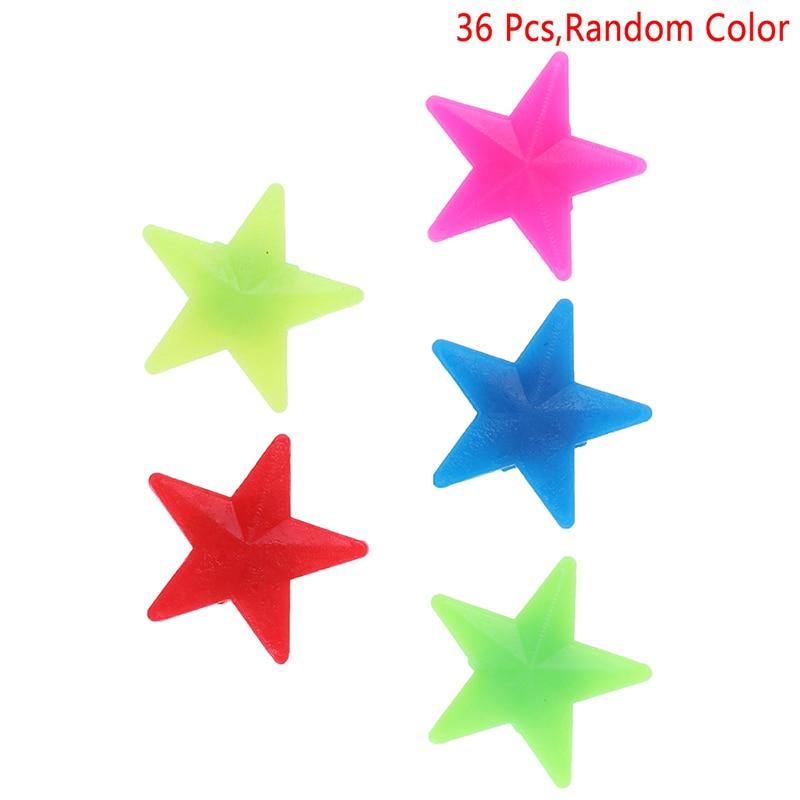 36Pcs Mixed Luminous Star Bike Bicycle Wheel Spoke Beads Plastic Clip Spoke Bead Bicycle Beads Wire Beads Decorations