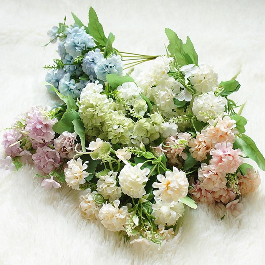 Silk Hydrangea Flowers for Decoration