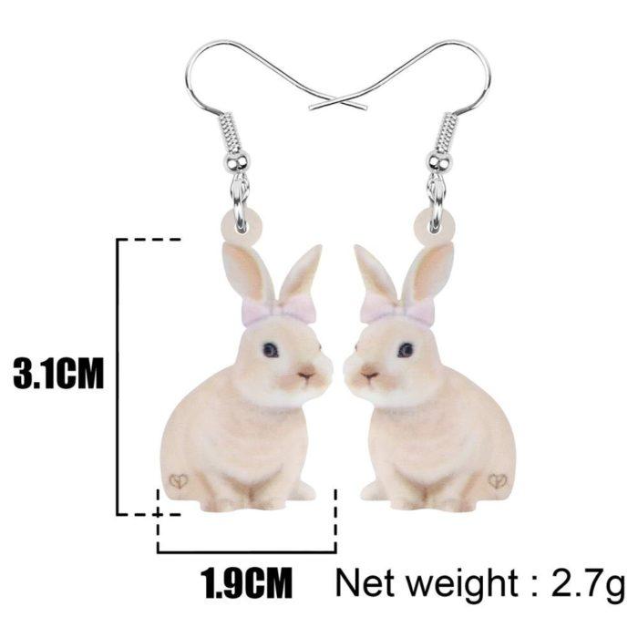 Rabbit Earrings Girls Cute Accessory