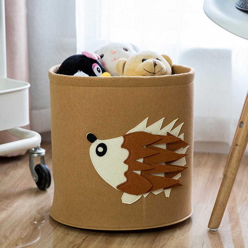 Felt Animal Tiger Storage Bag For Kids Toys Clothes Lion Elephant Thick Felt Storage Bag Handmade Storage Big Size Room Decor