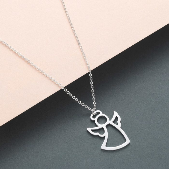 Stainless Steel Girls Angel Necklace