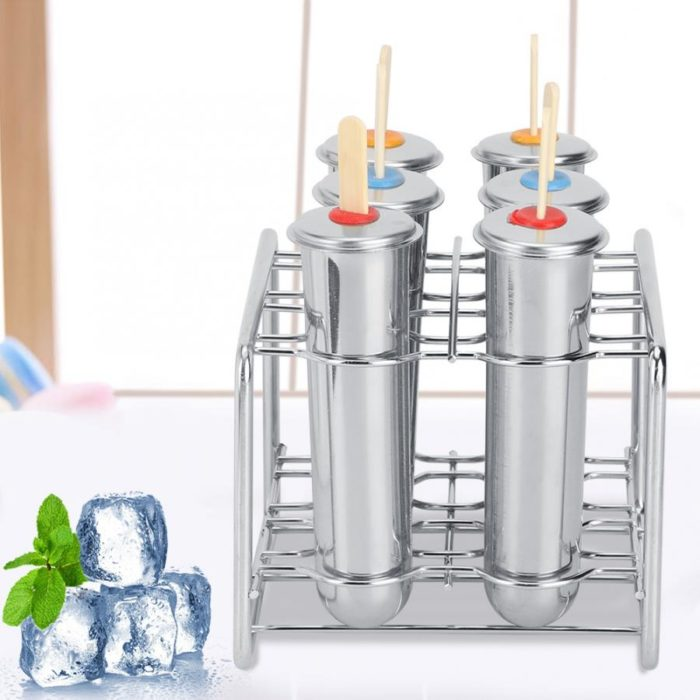 Stainless Metal Popsicle Molds (6pcs)