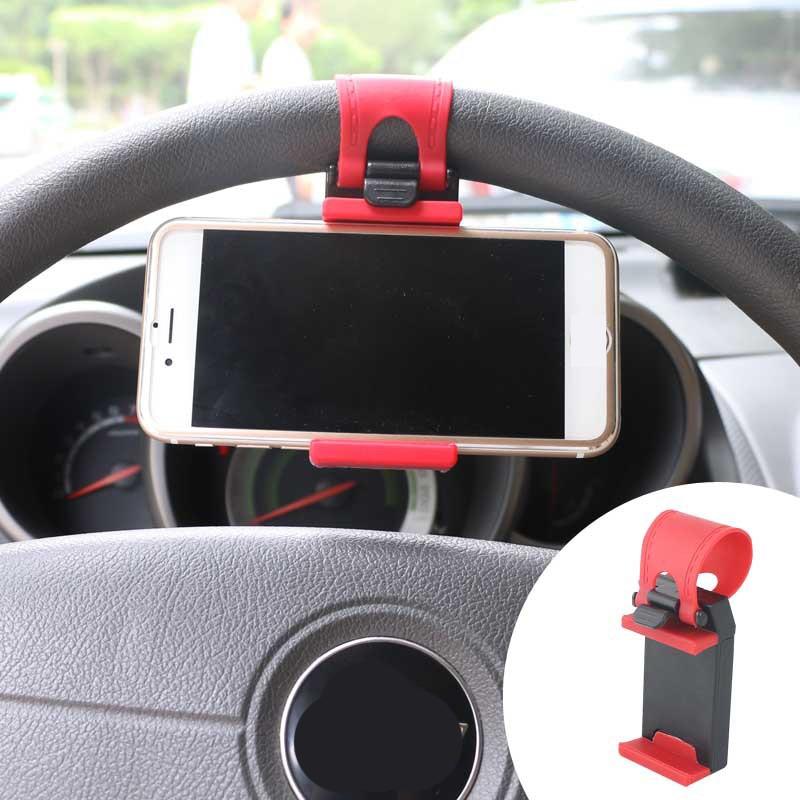 Universal Car Steering Wheel Mobile Phone Holder Mount Buckle Socket Holder Xiaomi Mi8 SE 6X Mi6 Mi A1 Mix 2S GPS Stands