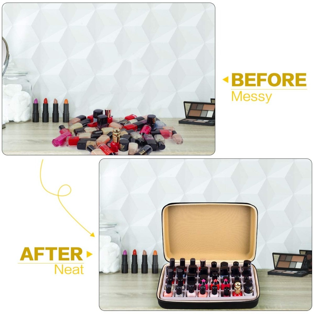 Nail Polish Organizer Holder for 40 bottles Fingernail Polish, Storage Case Compatible with Mineral Fusion (Case Only)
