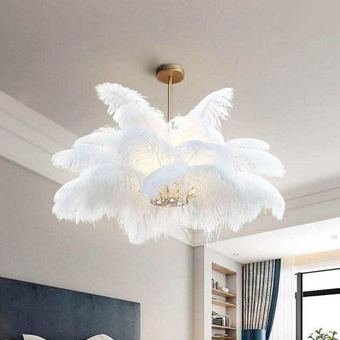 Elegant White Ostrich Feathers (10 pcs)
