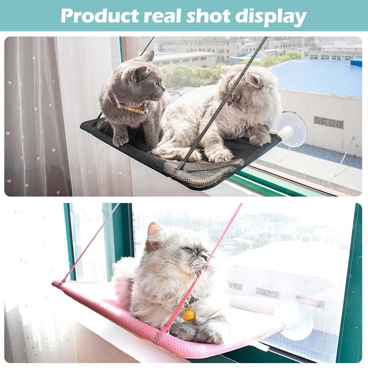 25KG Cat Hammock Window Mounted Cat Hammock Pet Seat Super Suction Cup Hanging Cat Lounger Soft Warm Bed Kitten Supplies Rest