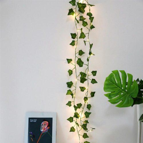 Garland String Leaves Fairy Lights