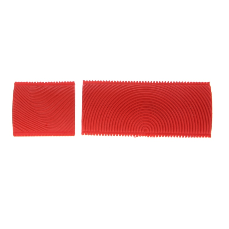 Drop Shipping 2PCS Imitation Wood Grain Paint Roller Brush Wall Texture Art Painting Tool Set