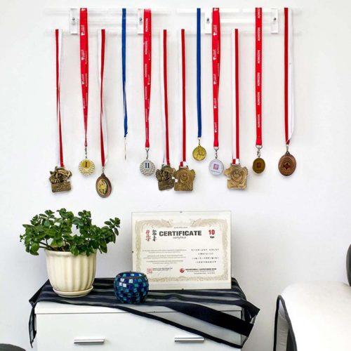 Transparent Medal Holder for Wall