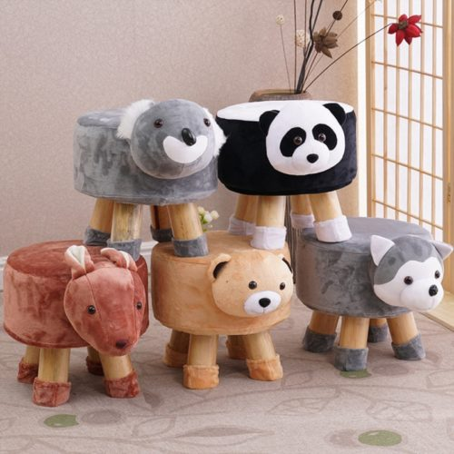 Plush Cover Stool Kids Animal Chair