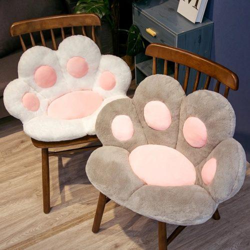 Soft Plush Cat Paw Chair Cushion