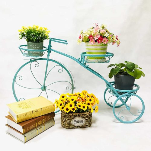 Bicycle Flower Stand 3-Tier Plant Display