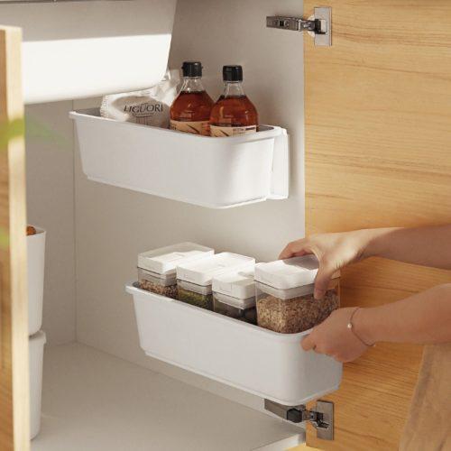 Under Kitchen Sink Pull Out Storage Tray Organizer