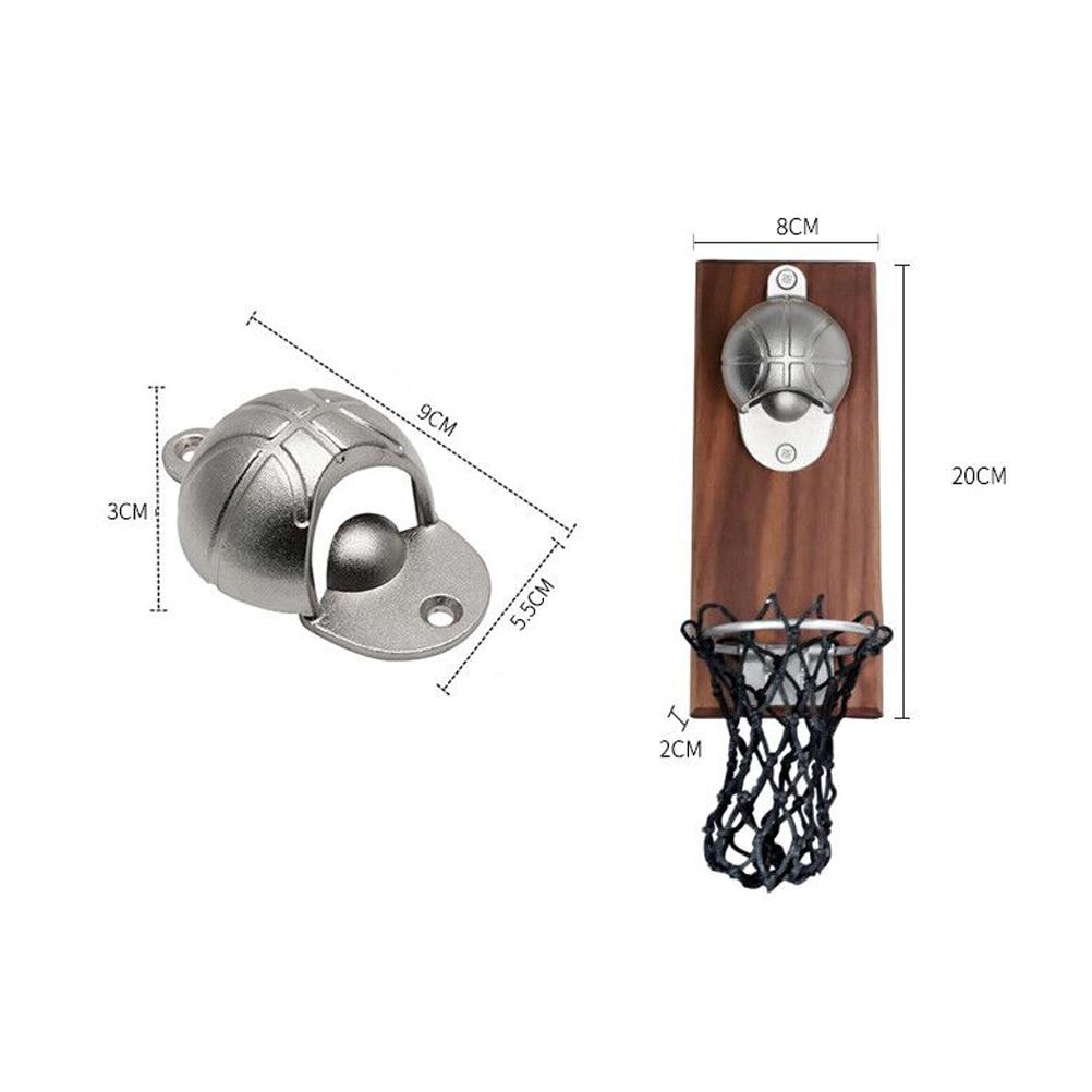 Creative Bottle Opener Basketball Wall Bottle Opener Wall Mounted With Magnetic Beer Opener Gift Kitchen Tools