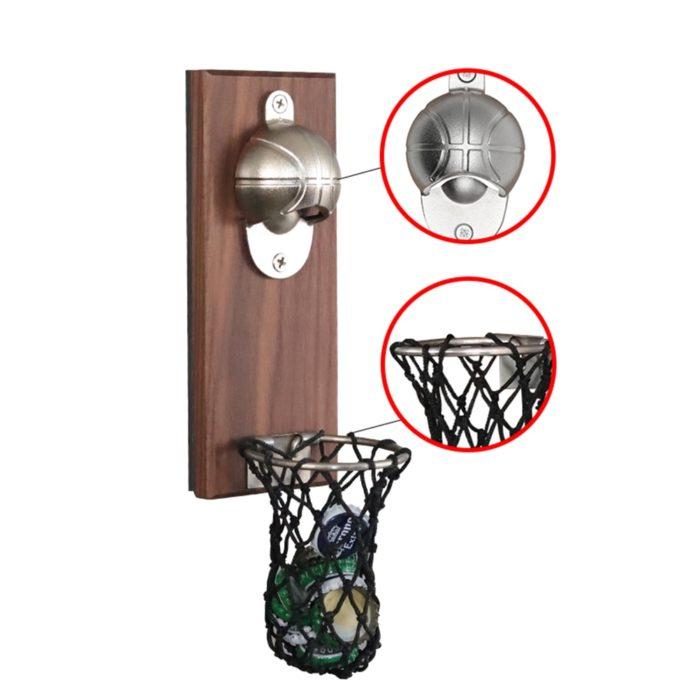 Wall Mounted Basketball Bottle Opener
