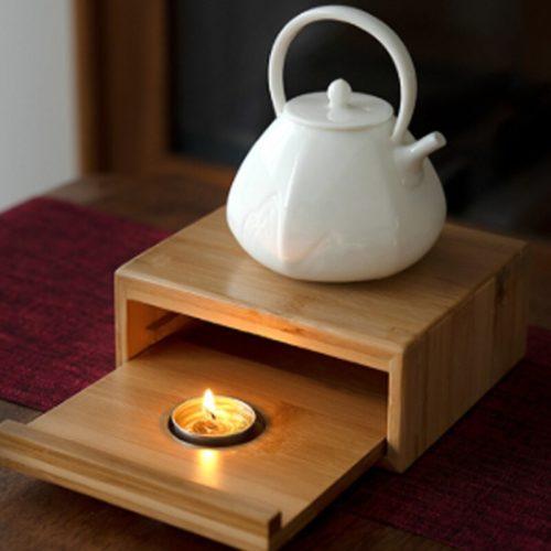 Wooden Candle Tea Warmer
