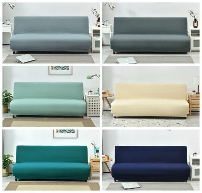 Armless Stretchable Elastic Sofa Cover