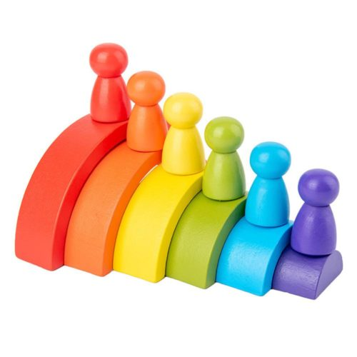 6 Colors Stacking Wooden Rainbow