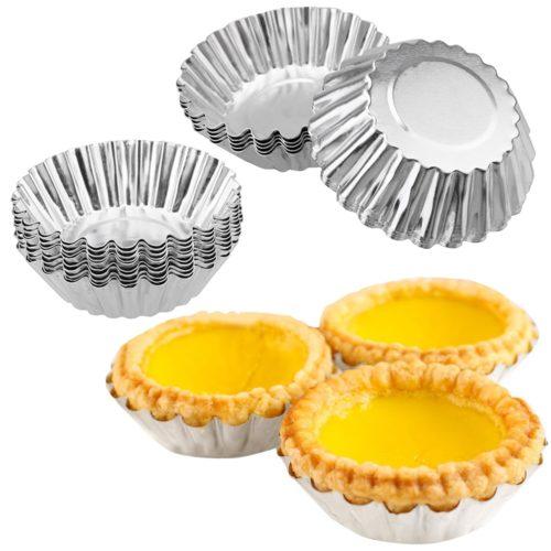Egg Tart Molds Aluminum Pastry Cups