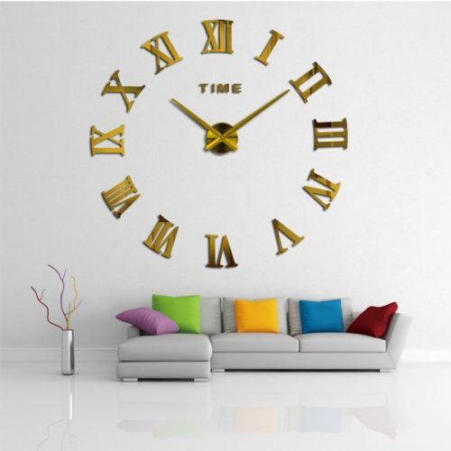 Frameless Roman Numeral Wall Clock
