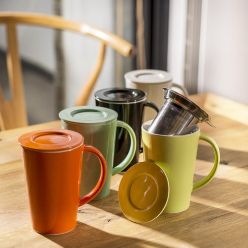 Ceramic Mug with Infuser and Lid