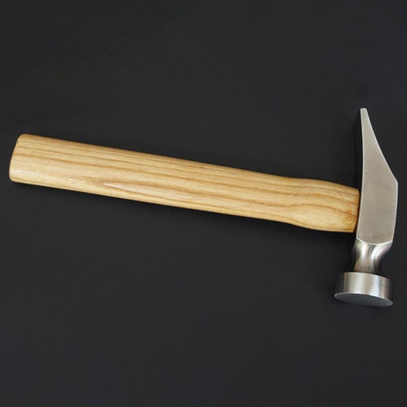 1Pcs Cobbler Shoe Repair Hammer Wood Handle Leather Work Shoemaking Repairing Remmending Shoe Tool