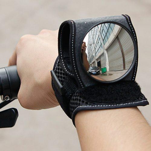 Rear View Bicycle Wrist Mirror