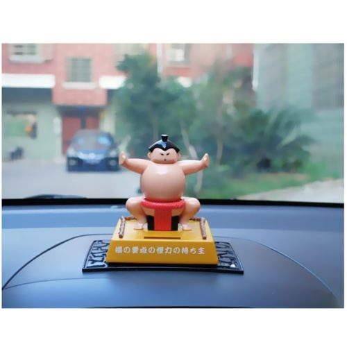 Sumo Wrestler Solar Car Dashboard Toy