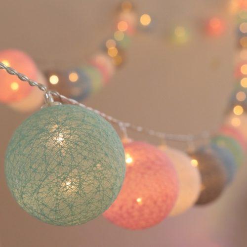 20 LED Cotton Ball String Lights