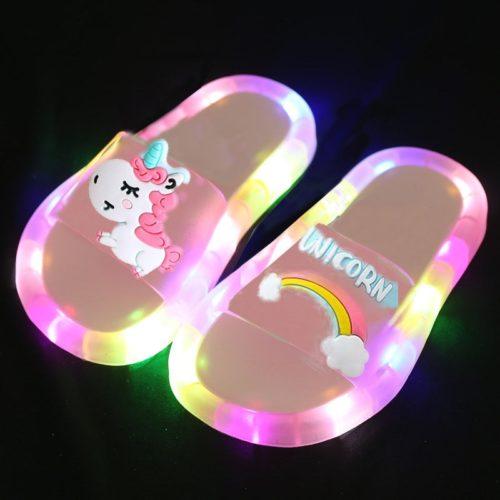 LED Light Up Unicorn Slippers