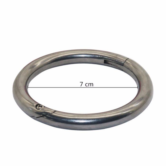 Carbon Steel Cow Nose Rings (2pcs)