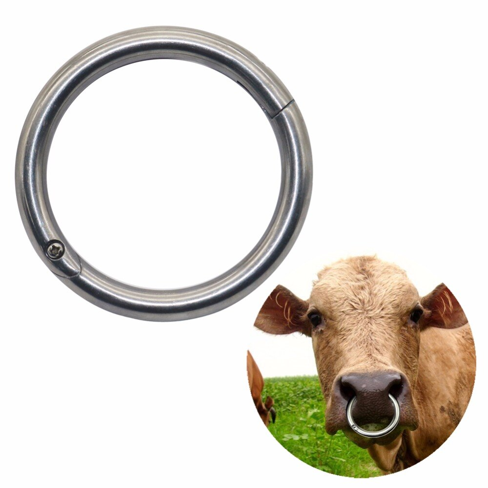 2 Products Cattle traction ring Large Circle Stainless steel nose pliers Horse Ass Traction Tool Farm Equipment Free shipping