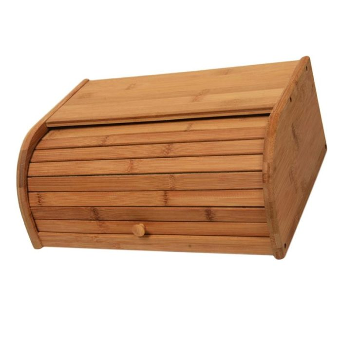 Natural Wooden Bread Box