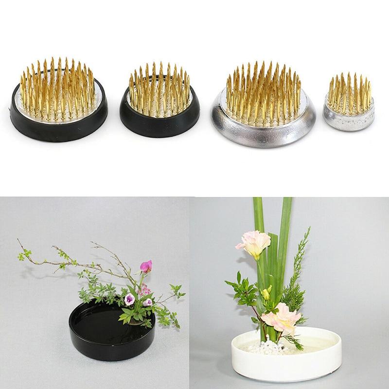 4 Sizes Insert Base Ikebana Holder Pin Art Fixed Tools Round Flower Frog Holder Art Fixed Tools Flower Arrangement