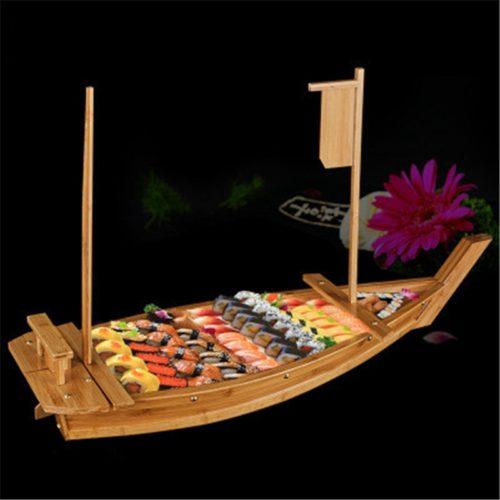 Food Display Wood Sushi Boat