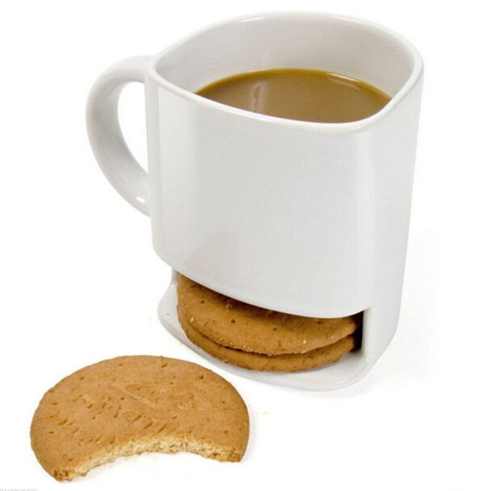 Ceramic 250ml Mug with Biscuit Pocket