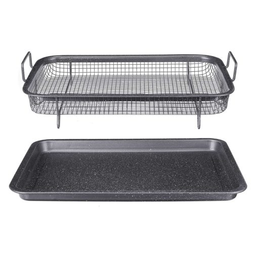 Non-Stick Oven Mesh Tray with Pan