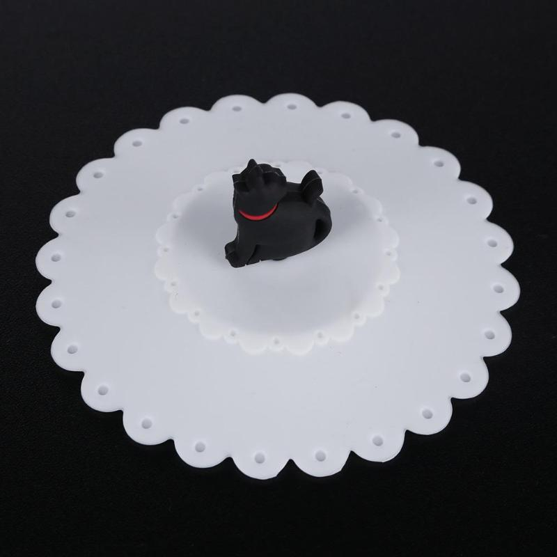 Cute Cat Silicone Cup Cover Dustproof Leakproof Tea Coffee Sealed Lids Cap Anti-dust Reusable Seal Suction Airtight Cup Cap