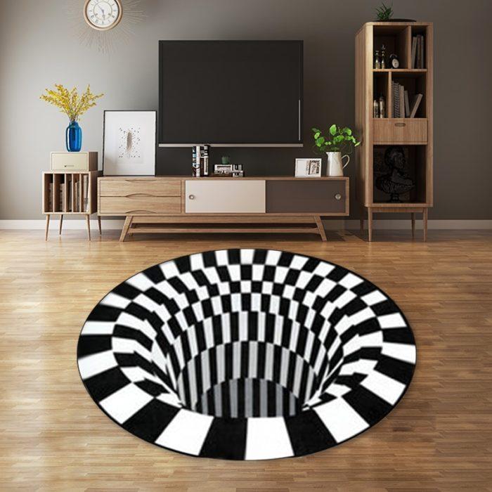 Vortex Illusion Rug 3D Decor Mat